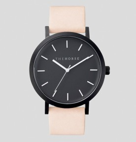 THE HORSE | Matte Black : Vegetable Tan Leather Watch FACTORY OF FASHION