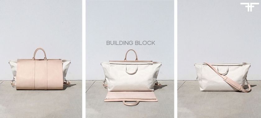 WEEKENDER BAG - BUILDING BLOCK- FACTORY OF FASHION