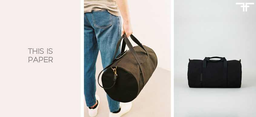 WEEKENDER BAG - THIS IS PAPER- FACTORY OF FASHION